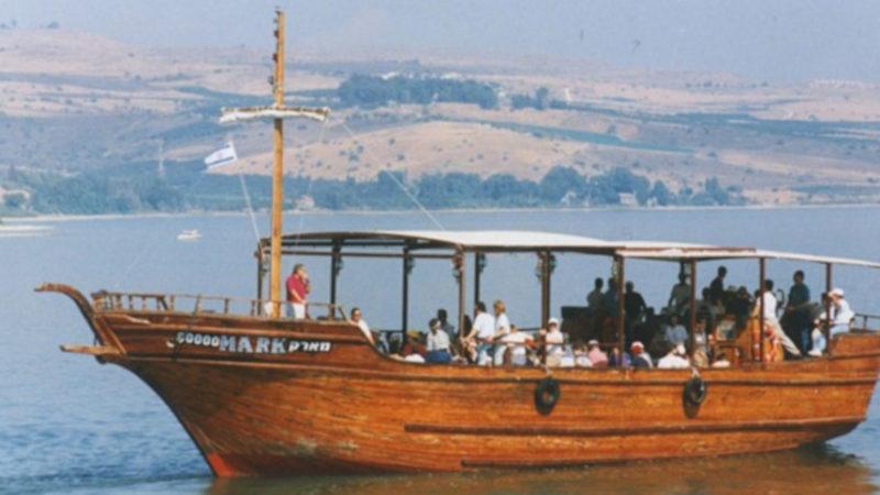 En la actualidad: embarcación tradicional en el mar de Galilea